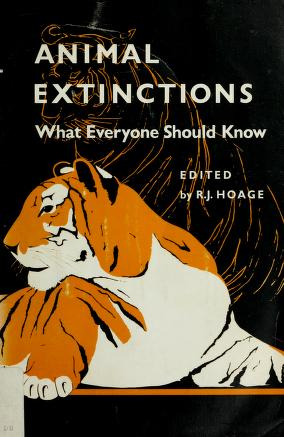 Cover of: Animal extinctions | R. J. Hoage