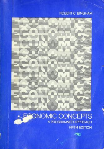 Cover of: Economic concepts | Robert C. Bingham